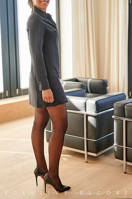 Escort Model Linda by Escort Hamburg in nice Skirt